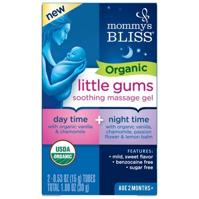 Mommy's Bliss Organic Gum Massage Gel Day/Night Combo - 2ct/0.53oz Each
