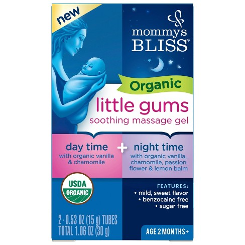 Mommy's Bliss Organic Gum Massage Gel Day/Night Combo - 2ct/0.53oz Each - image 1 of 4