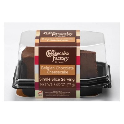 The Cheesecake Factory Single Serve Belgian Chocolate Frozen Cheesecake - 3.43oz