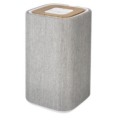 Knit Medium Tower Bluetooth Wireless Speaker - Light Gray/Wood