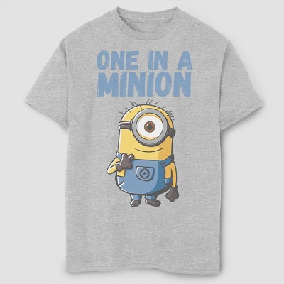 Boys' Despicable Me Minions One In A Million T-Shirt - Gray
