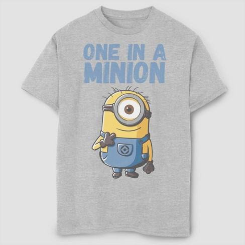Boys' Despicable Me Minions One In A Million T-Shirt - Gray - image 1 of 2