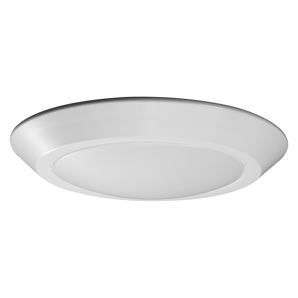 Image of Aurora Lighting 1 Light Flush Mount Ceiling Lights White
