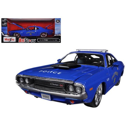 """1970 Dodge Challenger R/T Coupe Police Blue All Stars"""" 1/24 Diecast Model Car by Maisto Maisto"""" - image 1 of 1"""