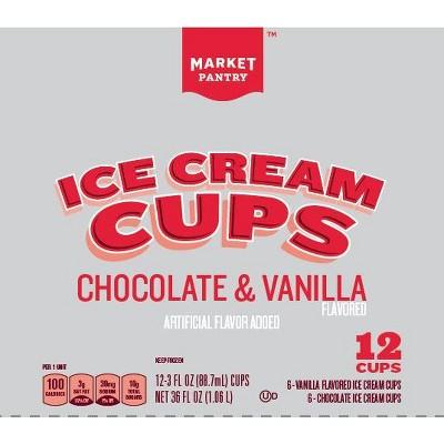 Chocolate& Vanilla Ice Cream Cups - 36 fl oz - Market Pantry™