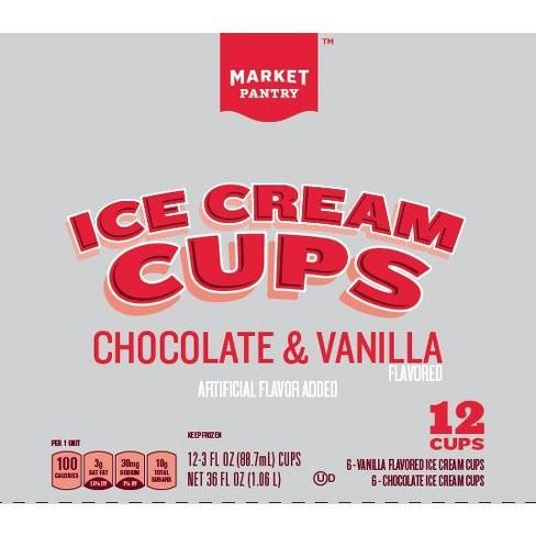 Chocolate Vanilla Ice Cream Cups 36 Fl Oz Market Pantry Target