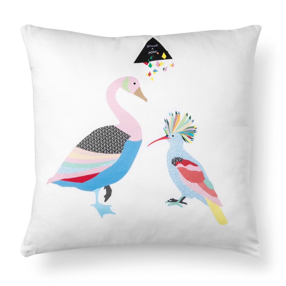 "Image of ""Artwork Series: 'Birds' by Stephanie Specht Throw Pillow (18""""x18"""") - AiR"""