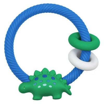 Itzy Ritzy Ring Rattle & Teether - Dino