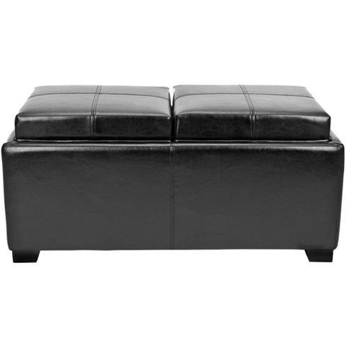 Amazing Harrison Double Tray Storage Ottoman Safavieh Gmtry Best Dining Table And Chair Ideas Images Gmtryco