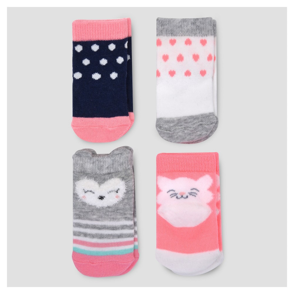 Baby Girls' 4pk Character Socks - Just One You Made by Carter's Multicolor 0-3M, Multi-Colored