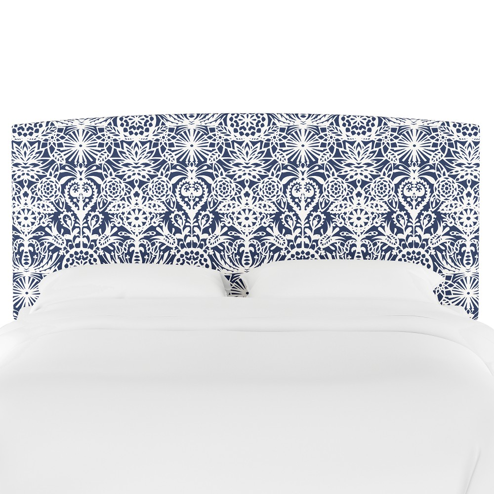 Upholstered Headboard Queen Floral Navy/White - Opalhouse, Navy & White Floral