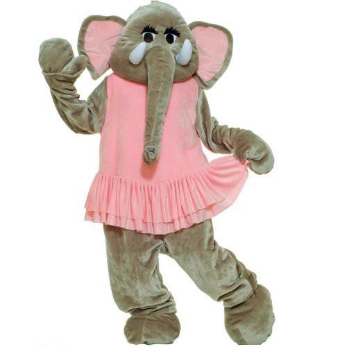 Halloween Adult Plush Elephant Mascot Costume, Women's, Size: One Size