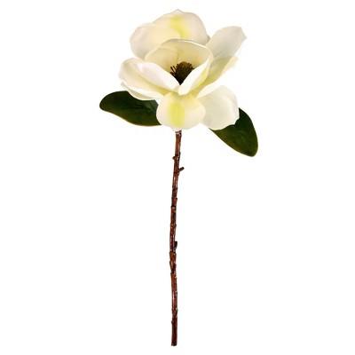"Vickerman 20"" Artificial White Single Magnolia, Set of 3"