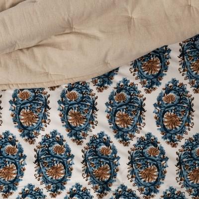 Threshold™ Velvet Navy Paisley Quilt : Target