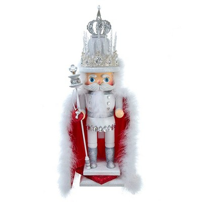Kurt Adler 28-Inch Hollywood White Ice King with Red Cape Nutcracker