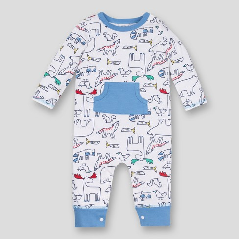 4a6ef7bc6cfd Lamaze Baby Boys  Organic Critter Romper - White 12M   Target