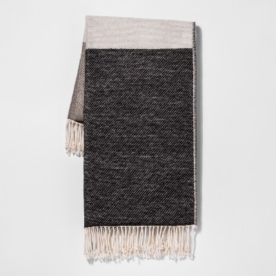Black Color Block Throw Blankets 50 X60  - Project 62™