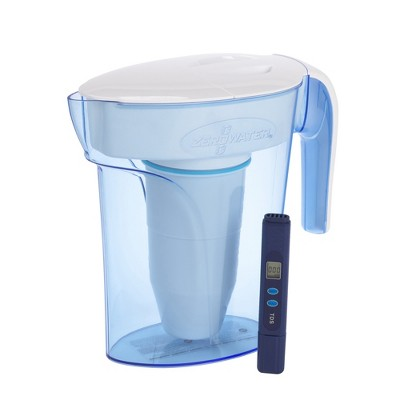 ZeroWater 7 Cup Water Pitcher with Ready-Pour + Free Water Quality Meter