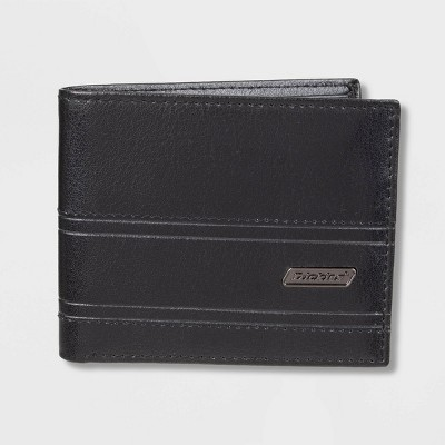 Dickies Men's Leather Travel Wallet - Black