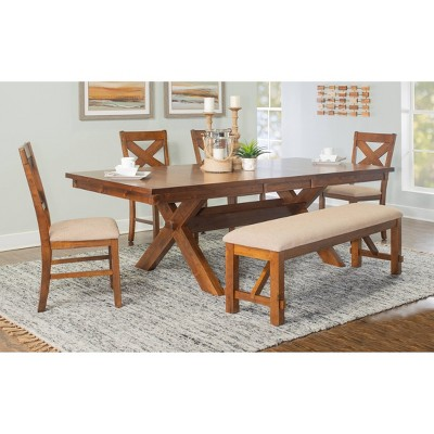 6pc Jackson Extendable Dining Table Set Hazelnut - Powell Company