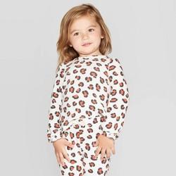 Toddler Girls' Leopard Print Cozy Top - Cat & Jack™ Cream