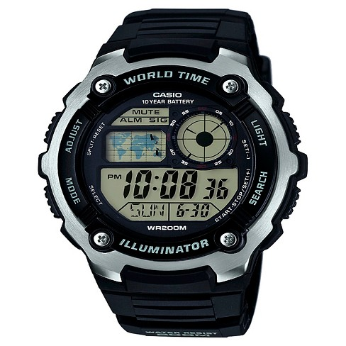 Casio Men's Performance Stainless Steel Wristwatch - Black - image 1 of 1