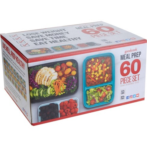 GoodCook Meal Prep Set Food Storage Containers with Lids - 60pc - image 1 of 3