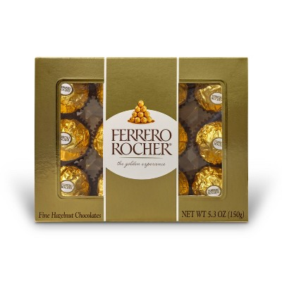 Ferrero Rocher Fine Hazelnut Chocolates - 5.3oz/12ct