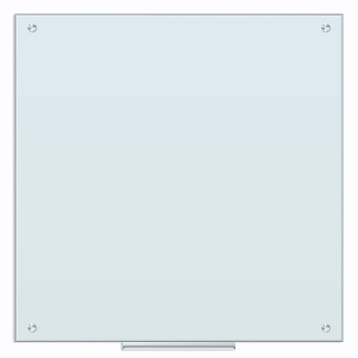 """U Brands 36"""" Magnetic Glass Dry Erase Board Frameless, White Frosted Surface"""
