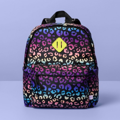Girls' Rainbow Leopard Print Backpack - More Than Magic™ - image 1 of 3