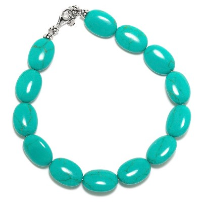 """Sterling Silver Bracelet - Turquoise/Silver (8"""")"""