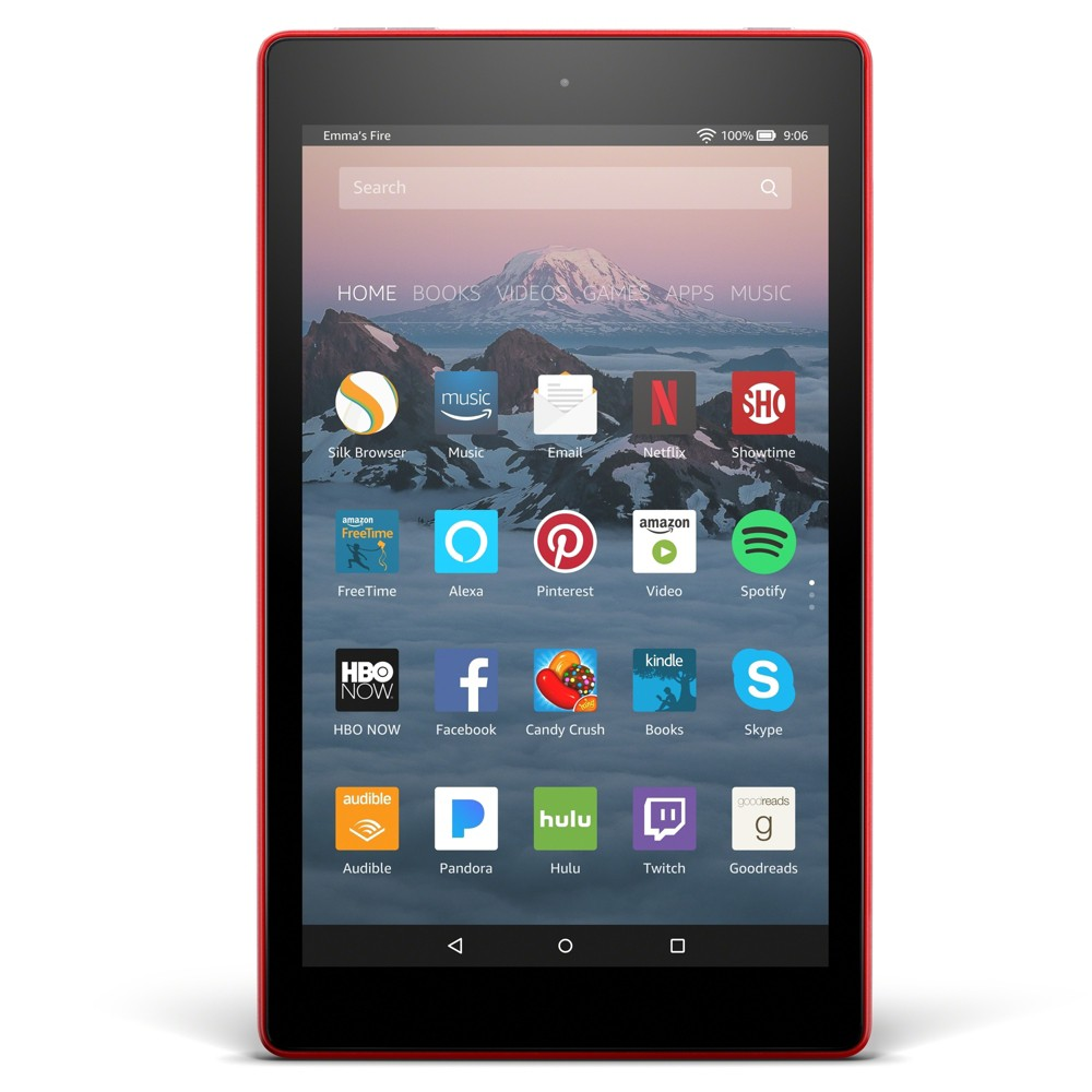 "Amazon Fire HD 8 with Alexa (8"" HD Display Tablet) Punch Red - 16GB"