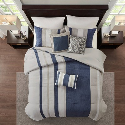 Eveline 7pc Faux Suede Comforter Set