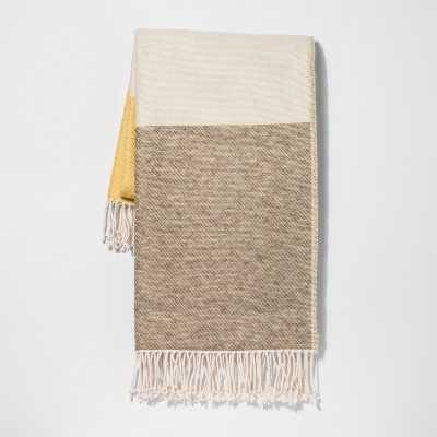 Yellow Color Block Throw Blanket 50 X60  - Project 62™