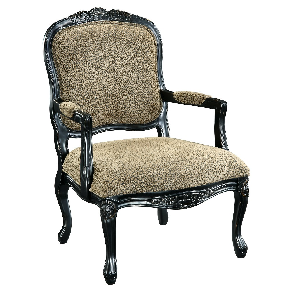Bannister Accent Chair - Animal Print - Christopher Knight Home, Beige