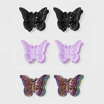 A Stunning Metal Purple Butterfly Claw Clip For Hair