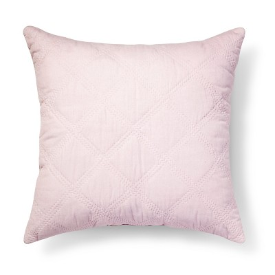 Pink Quilted Velvet Euro Throw Pillow (26 x26 )- Simply Shabby Chic™