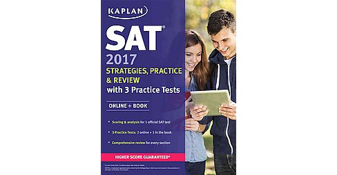 Sat 2017 Strategies, Practice, and Review + Online : With 3 Practice Tests (Paperback) - image 1 of 1