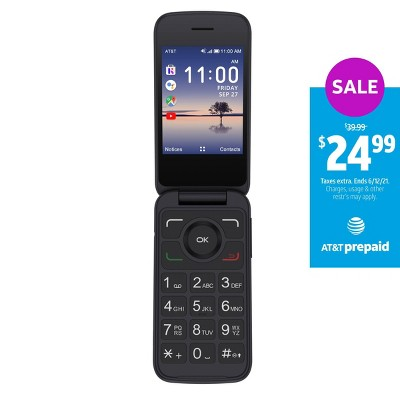 AT&T Prepaid Alcatel SMARTFLIP Phone (4GB) - Black
