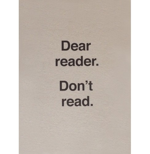 Ulises Carrion - Dear Reader Don't Read (CD) - image 1 of 1