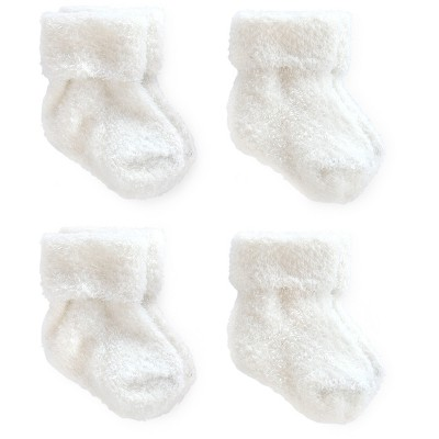 Baby 4pk Ankle Sock Set - Just One You™ Made by Carter's® White 0-3M