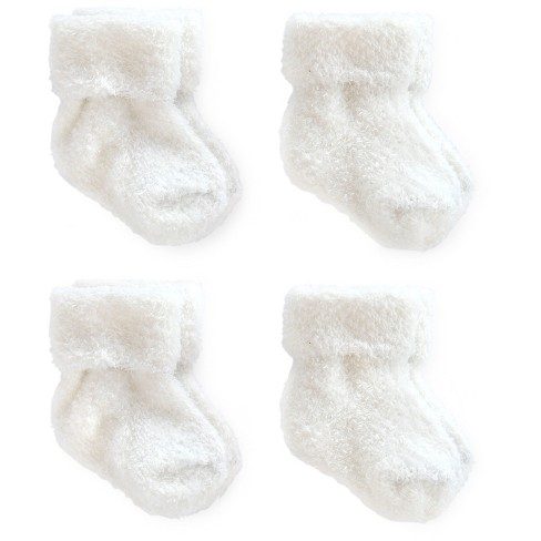 Baby 4pk Ankle Sock Set - Just One You™ Made by Carter's® White 0-3M - image 1 of 1
