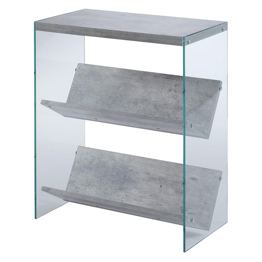 "Image of ""27.75"""" Soho Faux Bookcase Birch White - Johar Furniture, White Clear"""