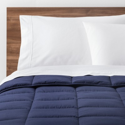 Navy Solid Down Alternative Comforter (Full/Queen)- Made By Design™