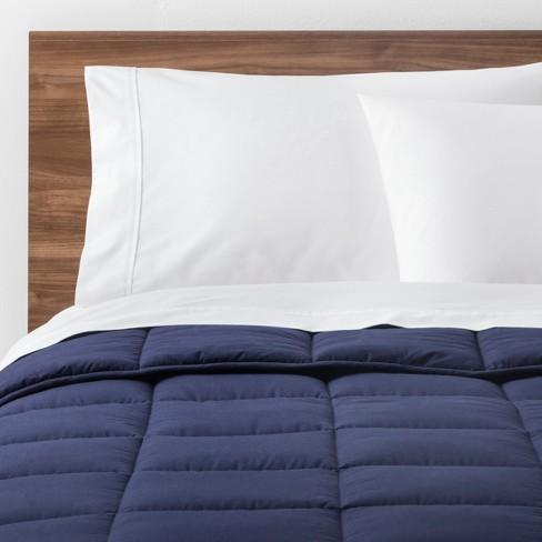 navy solid down alternative comforter full queen made by design target. Black Bedroom Furniture Sets. Home Design Ideas
