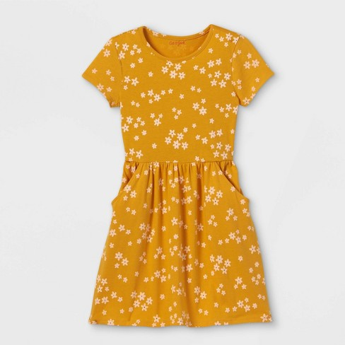 Girls' Printed Jersey Short Sleeve Knit Dress - Cat & Jack™ - image 1 of 2