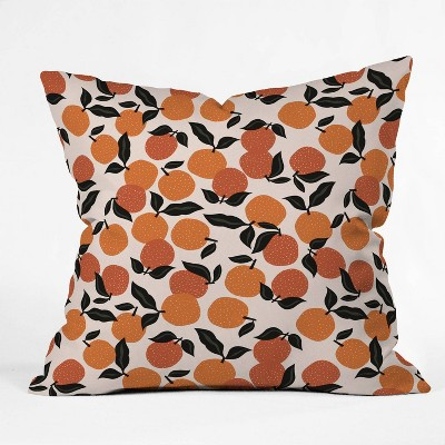 """16""""x16"""" Alisa Galitsyna Orange Garden Throw Pillow - society6"""