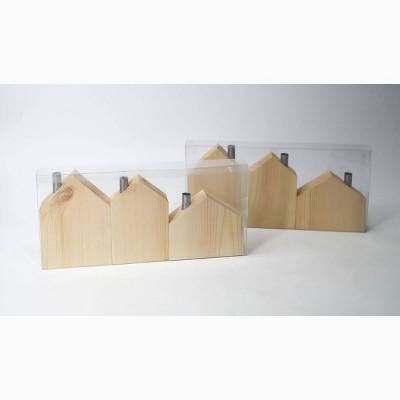 6ct Wood Houses Blank - Bullseye's Playground™
