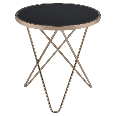 End Table Black Champagne - Acme Furniture