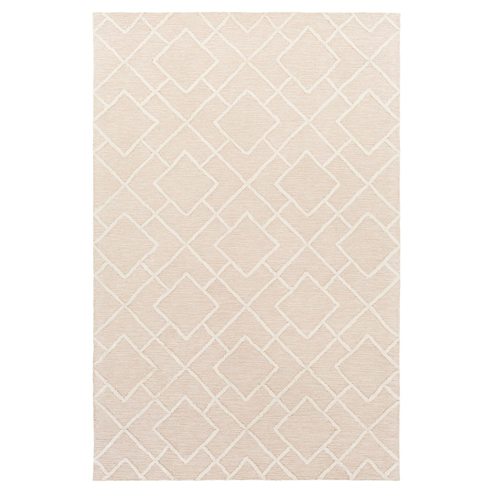 Khaki Abstract Hooked Accent Rug - (3'X5') - Surya, Neutral